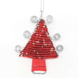 Christmas : Wire Christmas Tree - woza moya online craft store african beaded artwork