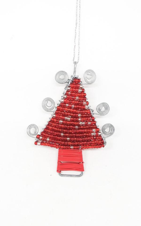 Christmas : Wire Christmas Tree - woza moya online craft store african beaded artwork