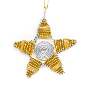 Christmas : Wire work Star - woza moya online craft store african beaded artwork