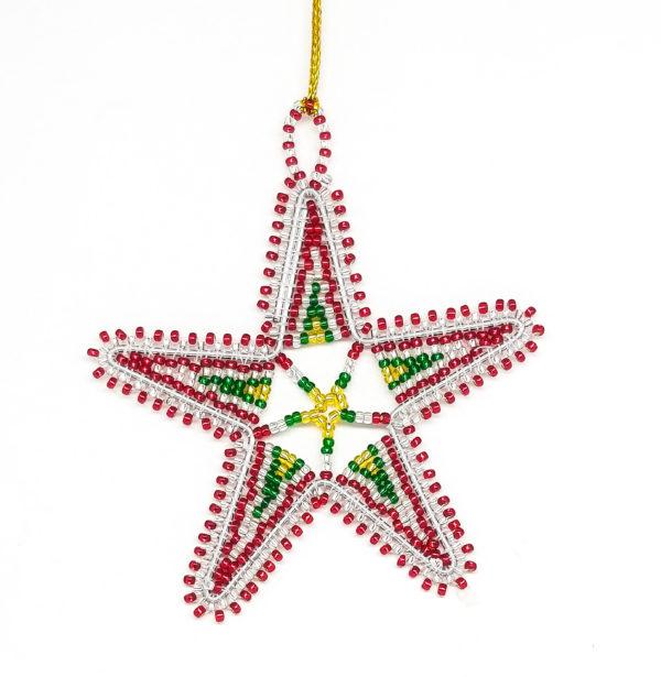 Christmas : Beaded Stars - woza moya online craft store african beaded artwork