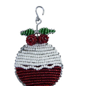 Christmas : Christmas Pudding (flat) - woza moya online craft store african beaded artwork