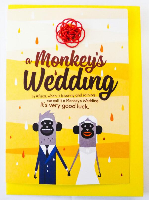 Cards : Monkeys Wedding - woza moya online craft store african beaded artwork