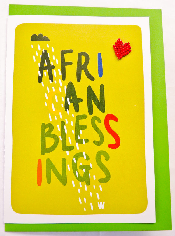 Cards : African Blessings Card - woza moya online craft store african beaded artwork