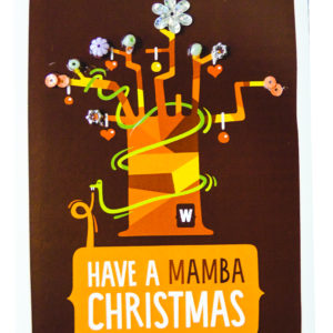 Cards - Mamba Christmas Card - woza moya online craft store african beaded artwork