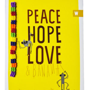 Cards : Peace, Hope & Love Card - woza moya online craft store african beaded artwork