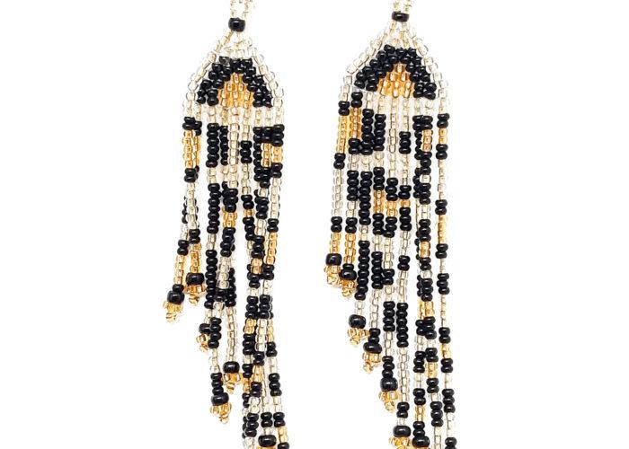 Earrings : Tiger Tassels