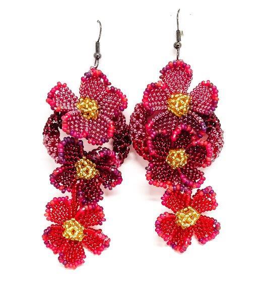 Earrings : Flower Cascade
