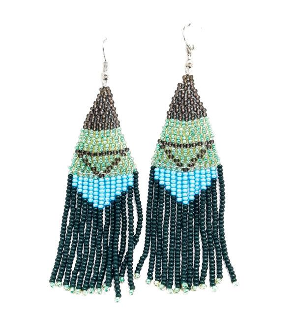 Earrings : Triangle Tassel