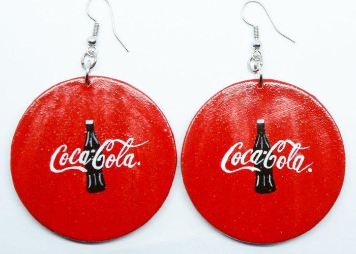 Earrings : Scelo's Earrings : Coca Cola Earrings