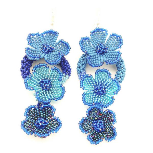 Earrings: Flower cascade