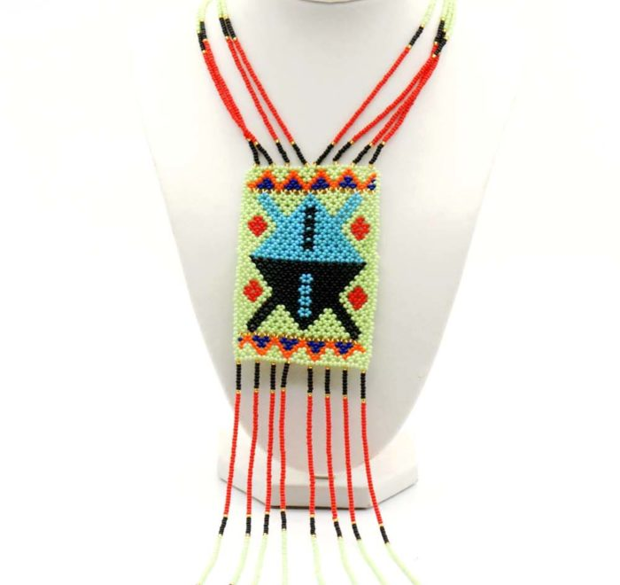 Princess Block and Tassel Necklace