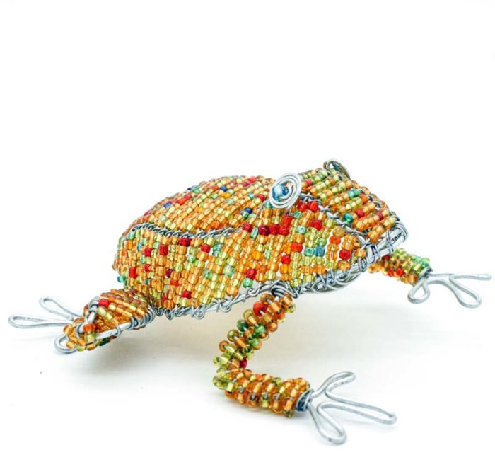 Wire and Glass Bead Frog