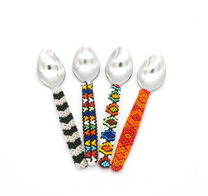 Beaded teaspoons
