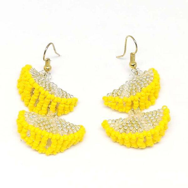 Lemon Slice Bead Earrings