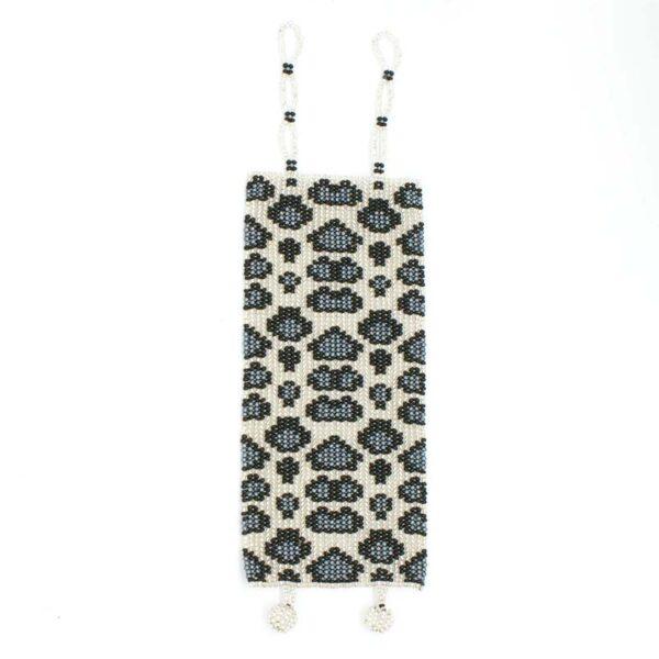 Wide Animal Print Bead Bracelet