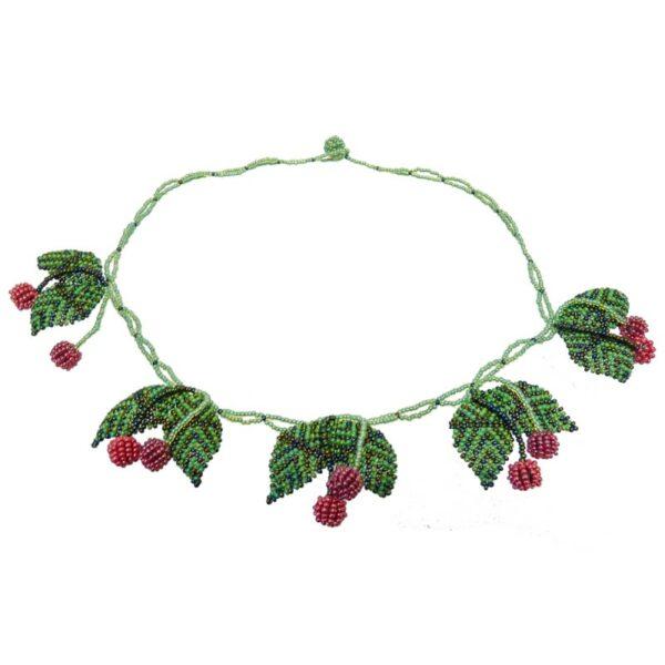 cherries fruit beaded necklace 1