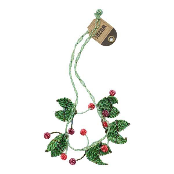 cherries fruit beaded necklace 2