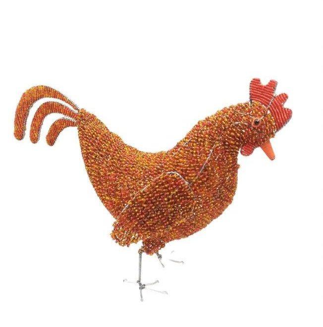 Chicken sculptures
