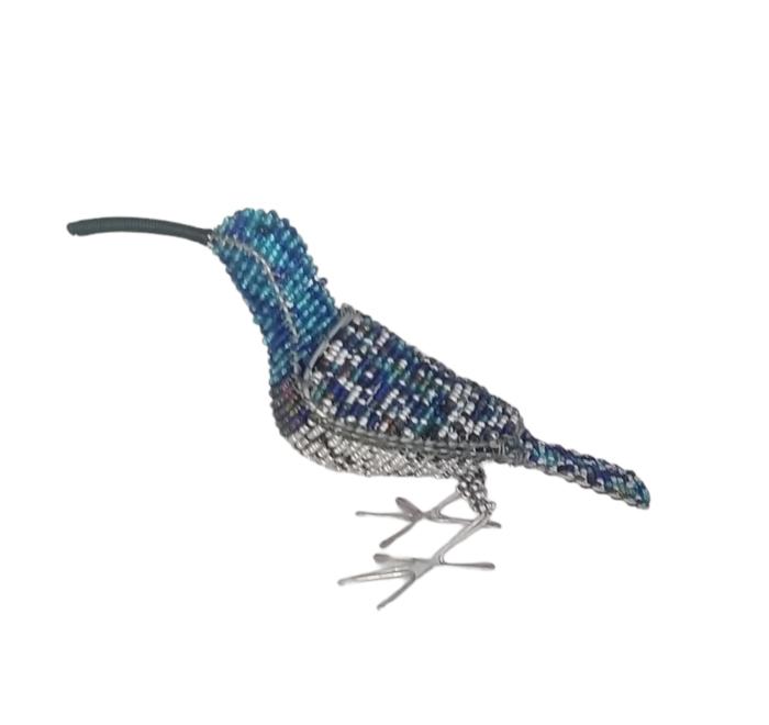 Malachite wire sculpture bird