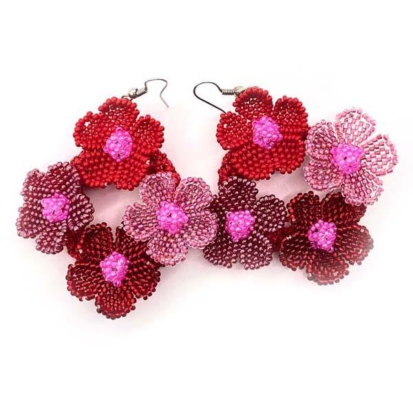 E099-Nobuhles-multi-flower-diamond-Earrings-ZA